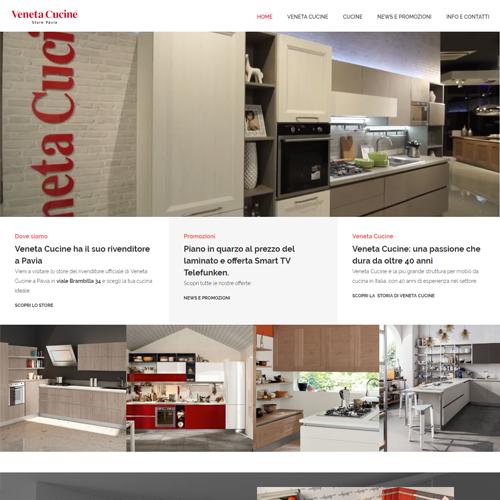 Realizzazione sito web di Veneta Cucine Pavia